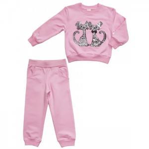 Комплект для девочки (толстовка, брюки) L4710 Lilax
