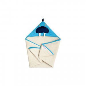 Полотенце с капюшоном  Морж 3 Sprouts. Цвет: синий