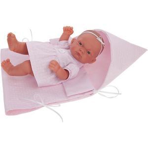 Кукла-младенец  Алисия, 26 см Munecas Antonio Juan. Цвет: розовый