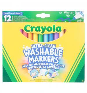 Фломастеры  смываемые Супер чисто 12 шт. Crayola