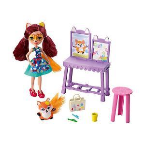 Игровой набор Enchantimals Арт-студия с Фелисити Фокс Mattel. Цвет: разноцветный