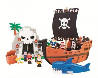 Конструктор  мягкий Приключения пиратов 124 детали Bebox