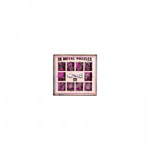 Набор из 10 металлических головоломок (фиолетовый), Эврика Eureka