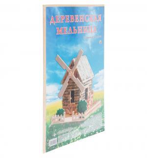 Сборная деревянная модель  Деревенская мельница Рыжий кот