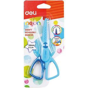 Фигурные ножницы  Neon, 136 мм Deli. Цвет: разноцветный