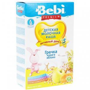 Каша  молочная гречневая с курагой и яблоком 5 месяцев 200 г Bebi
