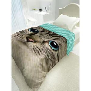 Покрывало стеганое 4 YOU Cute Cat 4YOU. Цвет: желтый