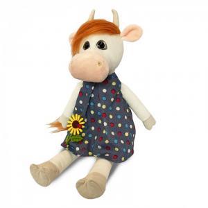Мягкая игрушка  Коровка Глаша в платье с цветочком 28 см Maxitoys
