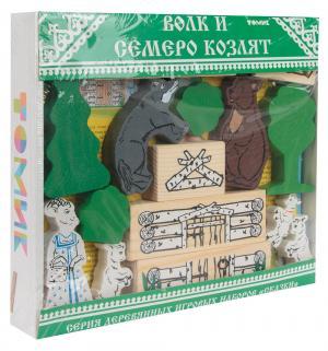 Деревянный конструктор  Волк и семеро козлят Томик