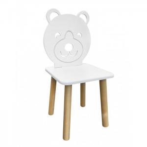 Детский стул Animal Мишка (натуральный корпус) РусЭкоМебель