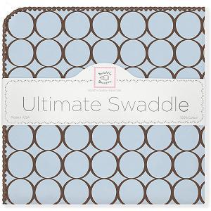 Фланелевая пеленка  Blue, 110х110 см SwaddleDesigns. Цвет: голубой