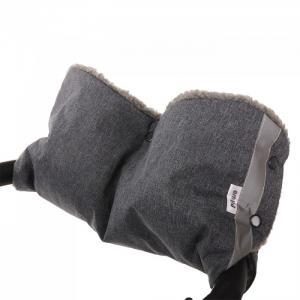 Муфта для рук на коляску (мех/плащевка) Pituso