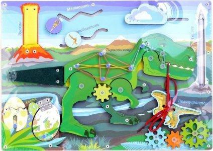 Деревянная игрушка  Бизиборд Юрский период Фабрика Мастер игрушек