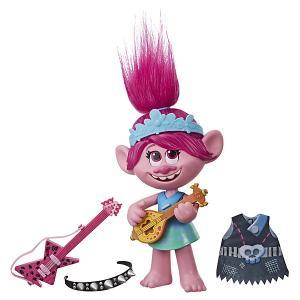 Кукла Trolls World Tour Поющая Розочка, 33 см Hasbro. Цвет: разноцветный