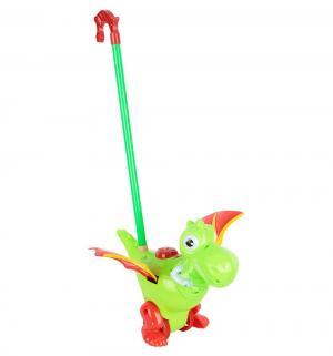 Каталка  Дракон, цвет: зеленый, 65 см Тилибом