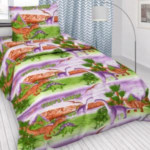 Постельное белье  1.5-спальное Динозавры (3 предмета) Letto