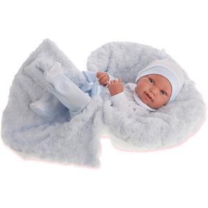 Кукла-младенец  Эдуардо в голубом, 42 см Munecas Antonio Juan. Цвет: голубой