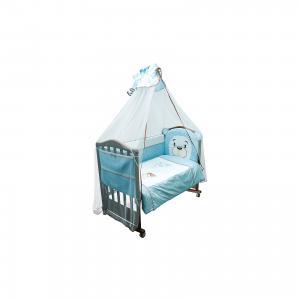 Комплект в кроватку 6 предметов , Умка, голубой Сонный гномик