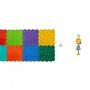 Игровой коврик  модульный Набор №2 Малыш и Подвесная игрушка Forest Львенок ОртоДон