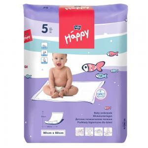 Пеленки  Baby Happy детские 60х90 см, 5 шт Bella