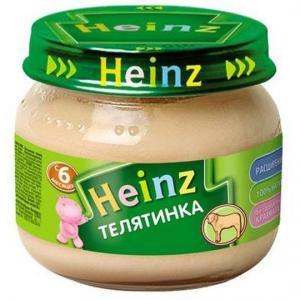 Пюре  телятина с 6 месяцев, 80 г Heinz