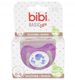 Пустышка  Natural. Коллекция №2 BasicCare силикон, 0-6 мес, цвет: фиолетовый Bibi