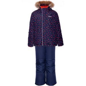 Комплект : куртка и полукомбинезон Gusti. Цвет: оранжевый