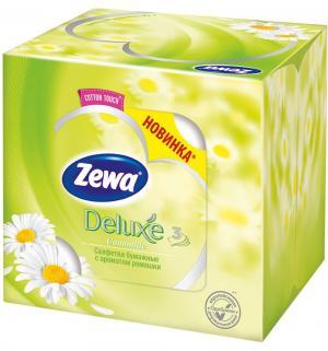 Бумажные салфетки Deluxe Ромашка 3-х слойные , 60 шт Zewa