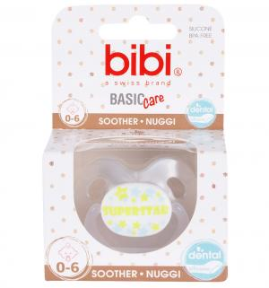 Пустышка  Dental SuperStar White BasicCare силикон, 0-6 мес Bibi