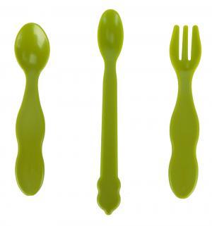 Набор столовых приборов  ложки+вилка тростник, цвет: зеленый Uinlui